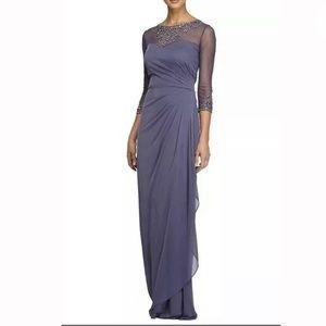 Alex Evenings A-Line Dress Sz 14